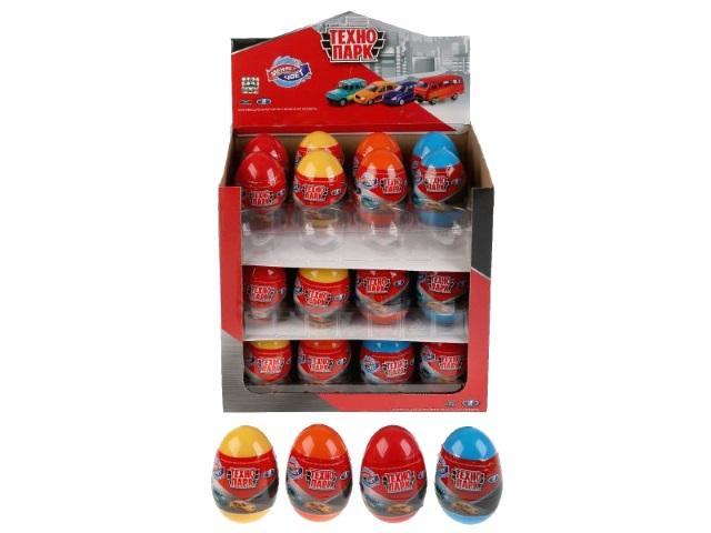 Машинка-сюрприз в яйце Технопарк УАЗ Лада металл 7.5см меняет цвет SB-15-58