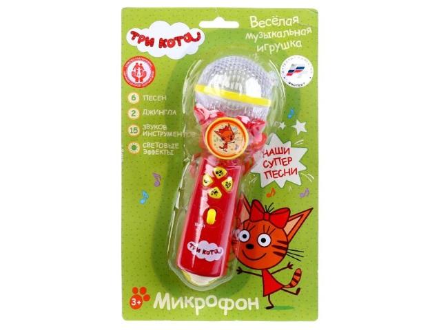 Микрофон на батарейках Три кота Песни Умка B1252960-R10
