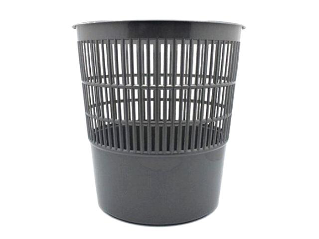 Корзина для бумаг пластик сетка круглая 10л серая WM 044001003