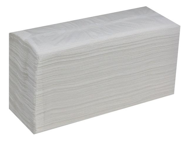 Полотенце бумажное однослойное 200л белое V-сложенные 23*23см Кабаре Стандарт