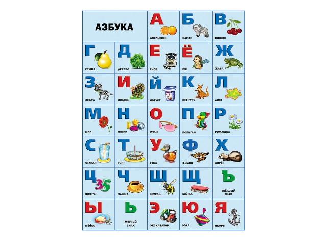 Обучающее пособие А2 Плакат Азбука Prof Press 17356