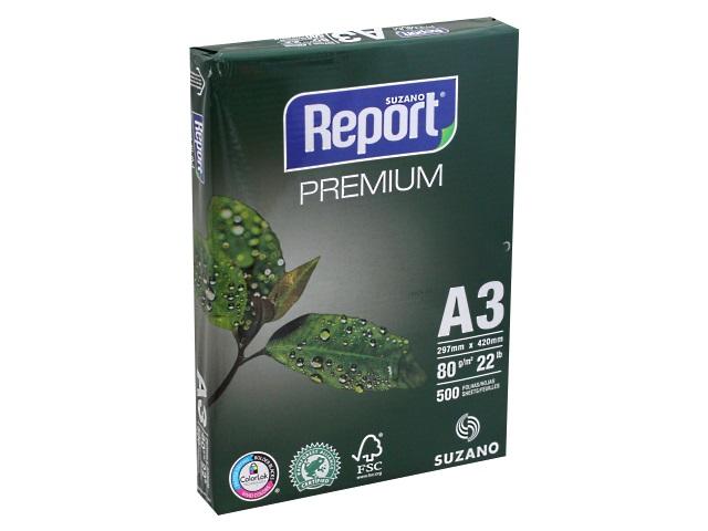 Бумага  А3  80 г/м2 500 л. Report Premium класс В 101245