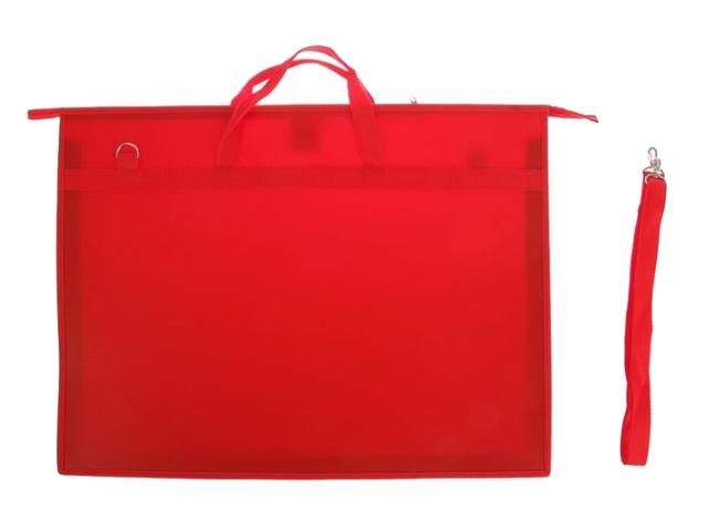 Папка на молнии А2 с ручками красная ПР 6 10727