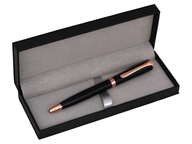 Ручка масляная поворотная Mazari Allegra В M-7592-70 металл синяя 0.7мм в футляре