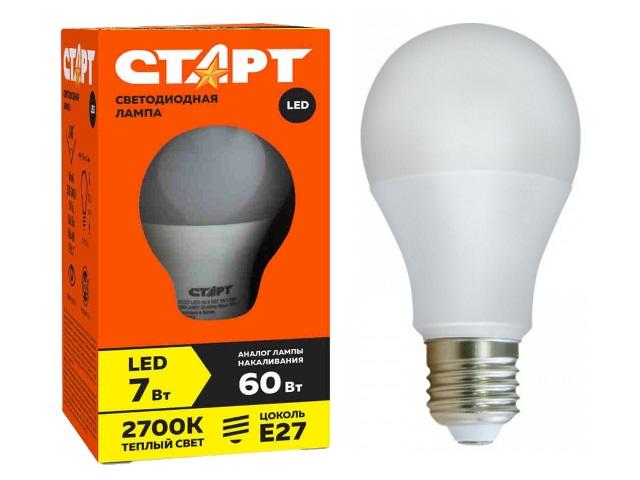 Лампа Есо Led GLS Е27  7W 2700К Старт