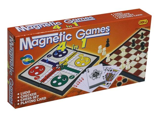 Шахматы магнитные 4 в 1 Рыжий кот 1812821