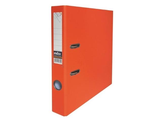 Регистратор  А4/80 Index оранжевый с металлической окантовкой 8/50 PP NEW OR