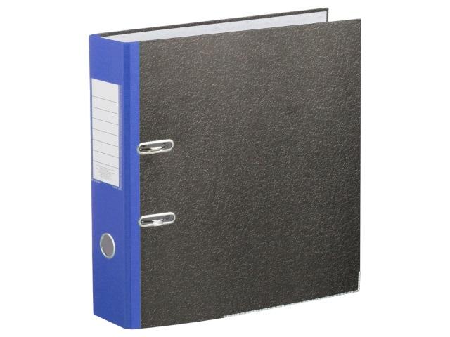 Регистратор  А4/50 ЭКО черный с металлической окантовкой синий корешок 1166631