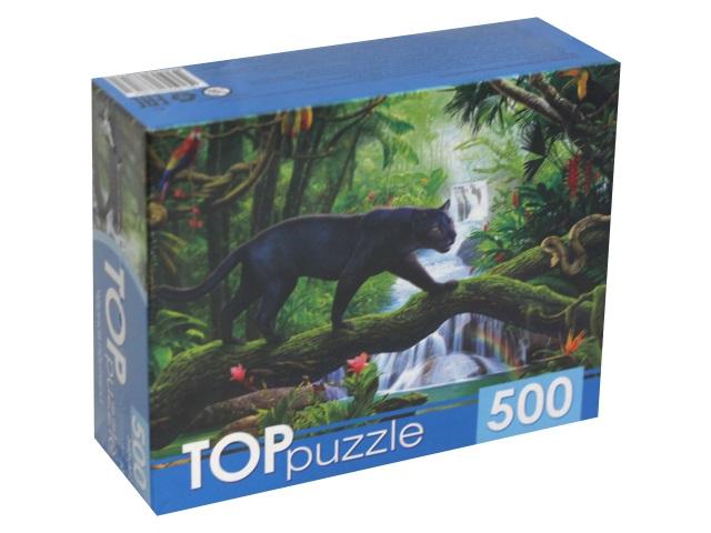 Пазлы  500 деталей TOPpuzzle Черная пантера ХТП500-6816