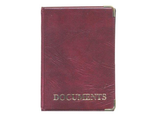 Обложка для автодокументов кожзам Имидж Documents с вкладышем красная 5.103-201