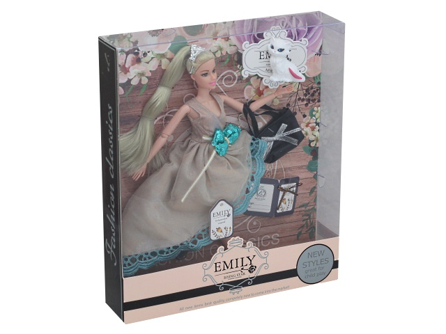 Кукла Emily в оригинальном платье 28см 74757
