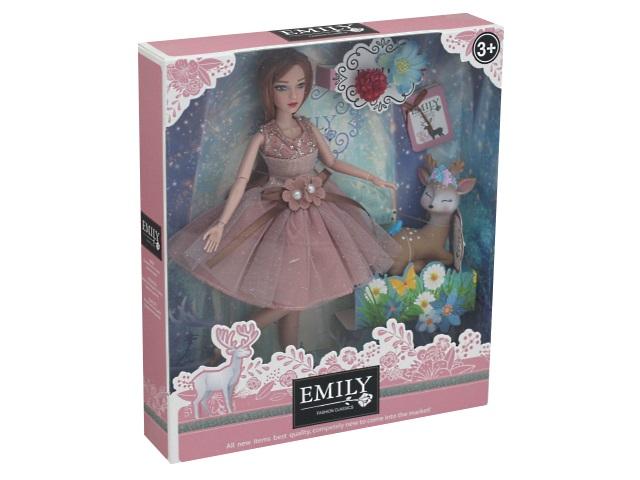Кукла Emily Ванильное небо 28см с олененком 76974
