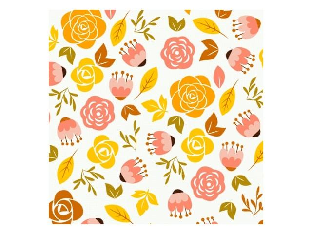 Бумага упаковочная 10 шт. 70*100см Miland Цветы-3 10-05-0021