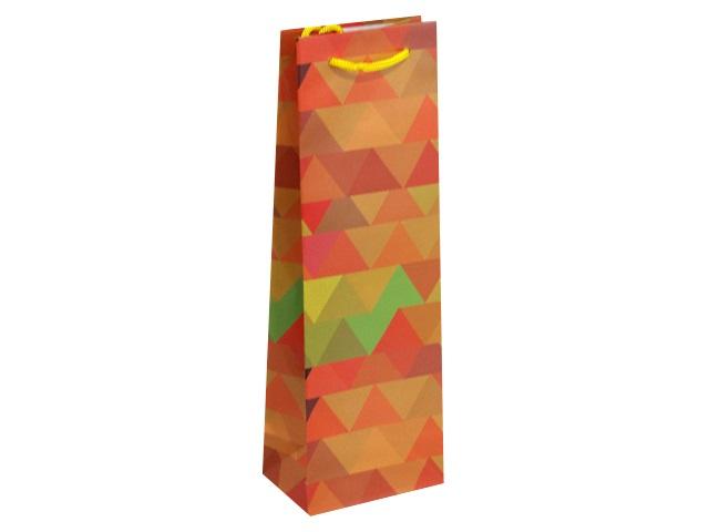 Пакет подарочный бумажный под бутылку Miland Оранжевое лето П001-0024