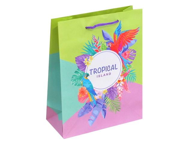 Пакет подарочный бумажный 18*23* 8см Тропический остров Miland ППД-9838