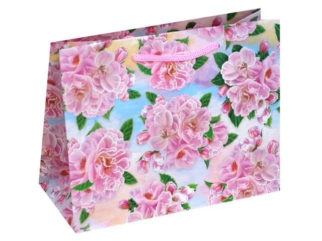 Пакет подарочный бумажный 23*18*10см Милые цветочки Miland ПКП-1820