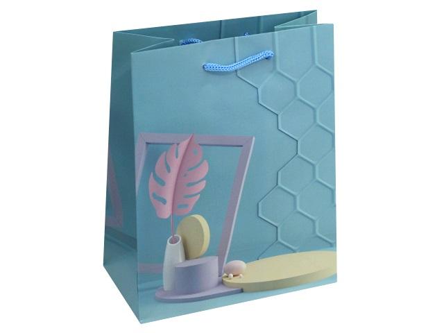 Пакет подарочный бумажный 18*23*10см Стильная композиция Miland ППД-9822