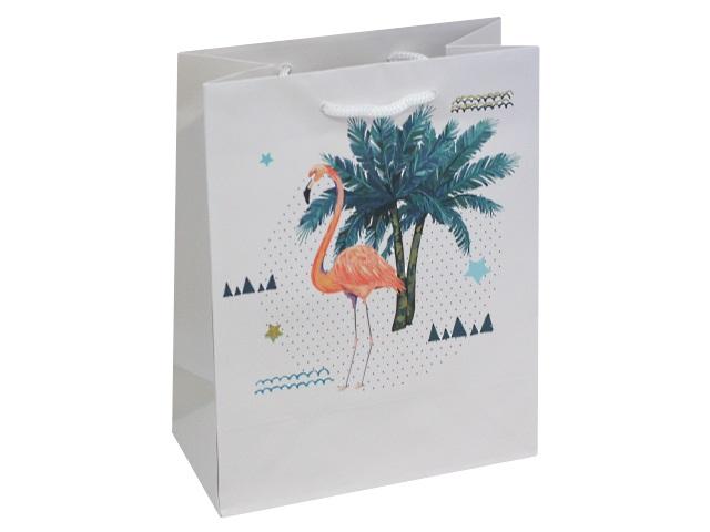 Пакет подарочный бумажный 18*23*10см Miland Фламинго в тропиках ППД-9821