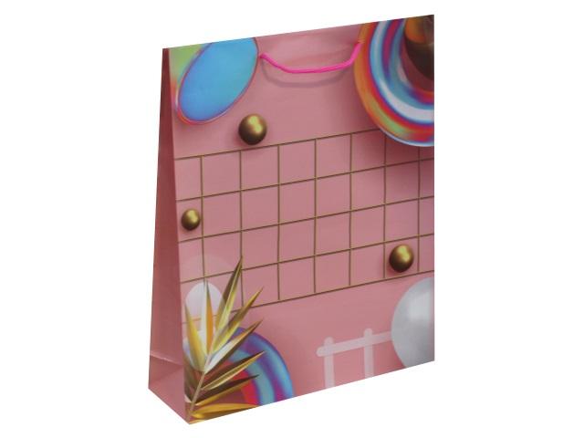 Пакет подарочный бумажный 26.4*32.7* 8см Розовая композиция Miland ППК-3187