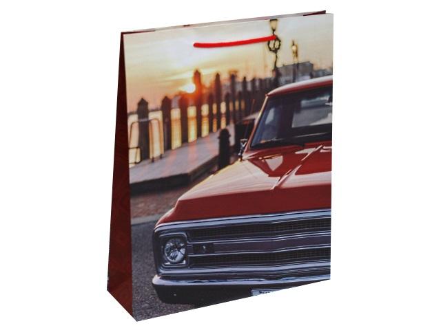 Пакет подарочный бумажный 26.4*32.7* 8см Красное авто Miland ППД-9868