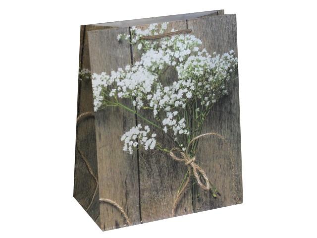 Пакет подарочный бумажный 26.4*32.7*13.6см Букет полевых цветочков Miland ПП-9116