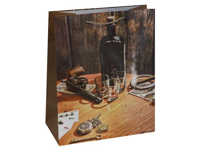 Пакет подарочный бумажный 26.4*32.7*13.6см Вестерн Miland ПП-9127
