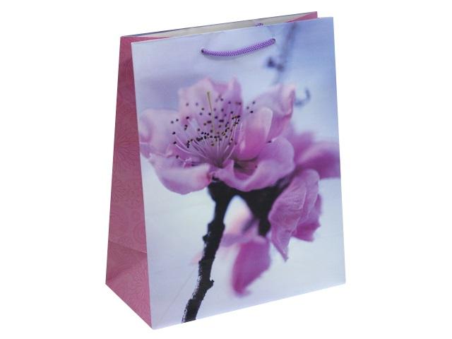 Пакет подарочный бумажный 26.4*32.7*13.6см Завораживающие цветы Miland ПП-9126