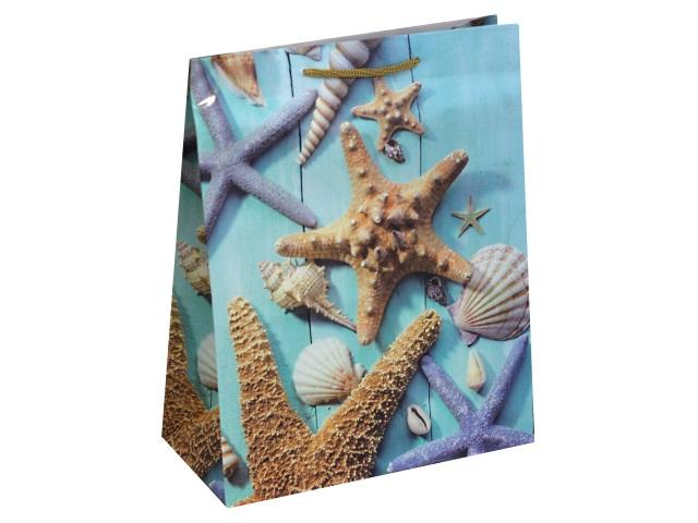 Пакет подарочный бумажный 26.4*32.7*13.6см Морские обитатели Miland ПП-9128