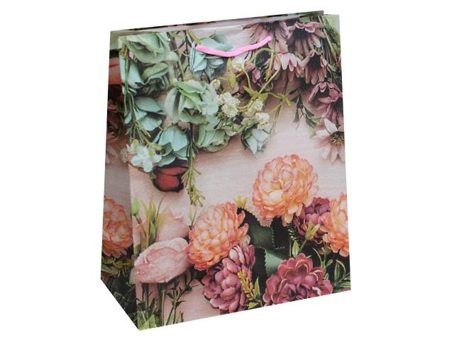 Пакет подарочный бумажный 26.4*32.7*13.6см Разнообразие цветов Miland ПП-9117