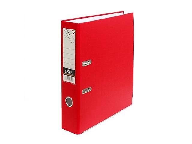 Регистратор  А4/80 Index красный с металлической окантовкой 8/50 PP NEW RD