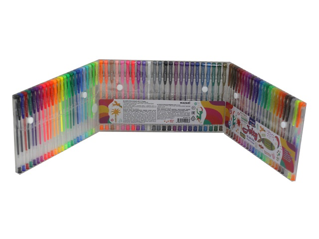 Ручка гелевая набор  72цв Mazari Jelty 0.5-0.8мм M-5427-72