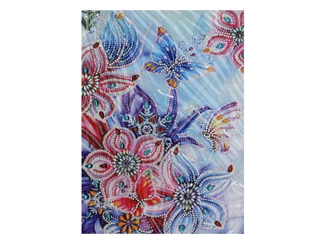 Алмазная мозаика 30*40см Mazari Бабочки и цветы M-10555