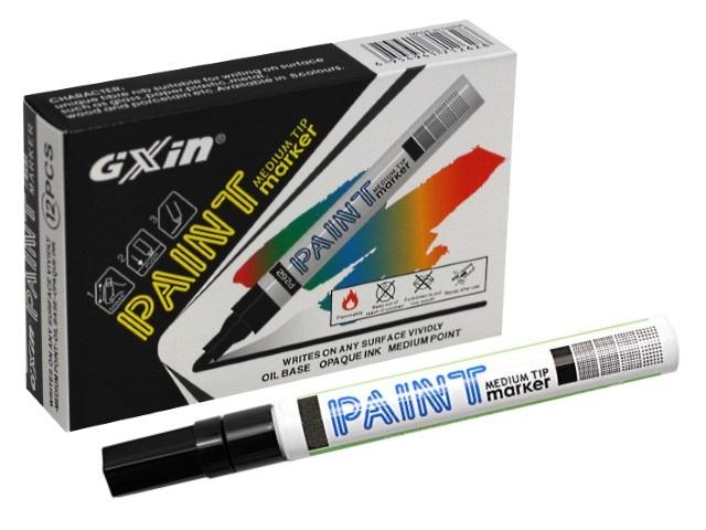 Маркер краска Paint Gixin Basir черный круглый 2-4мм G-862A