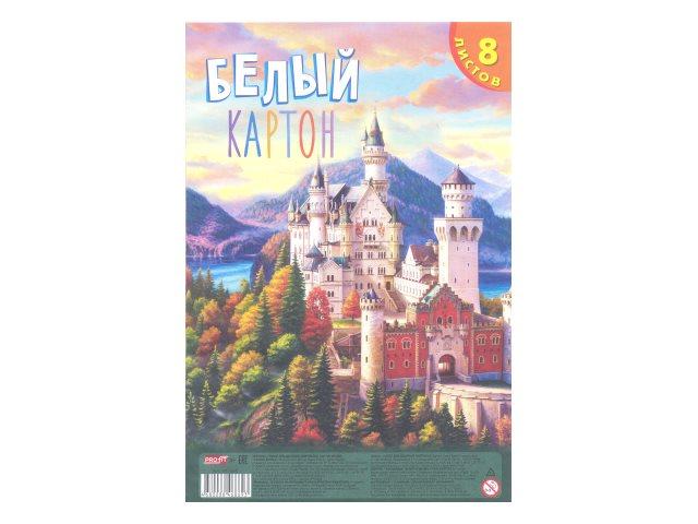 Картон белый А4  8л Profit односторонний клееный Замок в лесу 08-7869