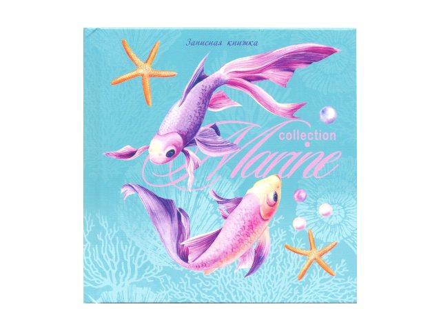 Записная книжка А6+ Prof Press тв/переплёт  64л линия Диковинные рыбки 64-0188