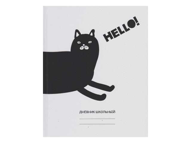 Дневник 5-11кл тв/переплёт Канц-Эксмо Белый дневник Hello! ДБ214802