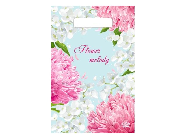 Пакет с прорезной ручкой 20*30см Цветущий сад Тико