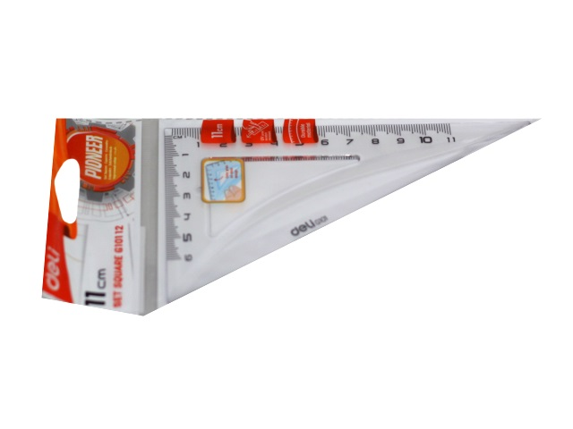 Треугольник 11 см 45*45*90 Deli Pioneer прозрачный EG10112