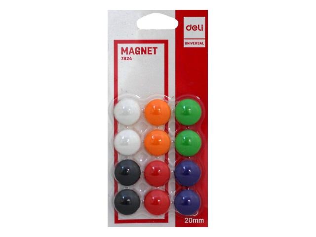 Магнит для досок Deli D=20 мм 12 шт. круглые Е7824