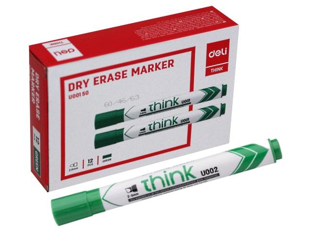 Маркер для досок Deli Think зеленый круглый 2мм EU00150