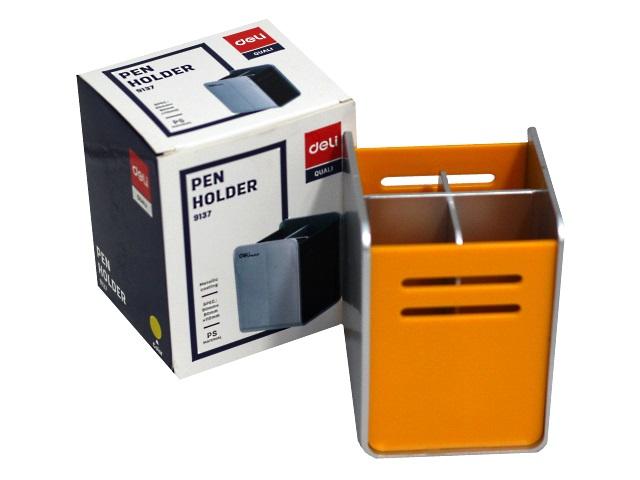 Стакан для ручек пластик Deli Quali квадратный Е9137