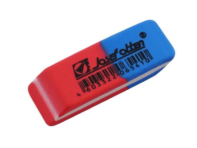 Ластик J.Otten прямоугольный красно-синий 43*13*8мм 3802А