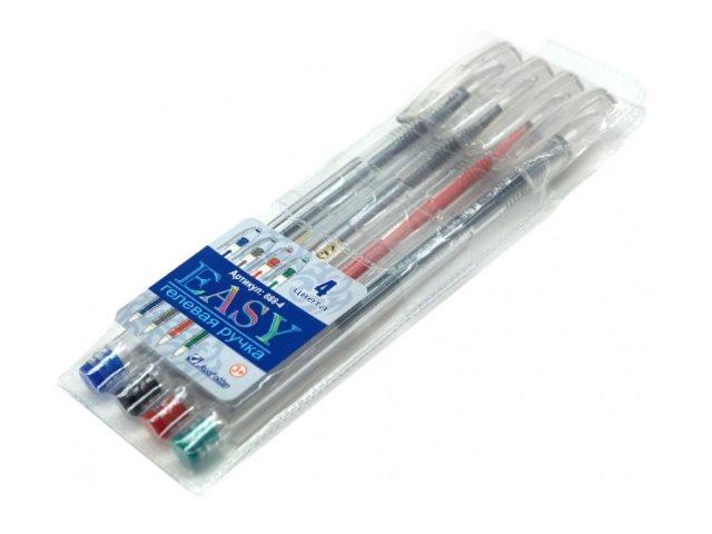 Ручка гелевая набор   4цв J.Otten Easy 0.5мм 888-4