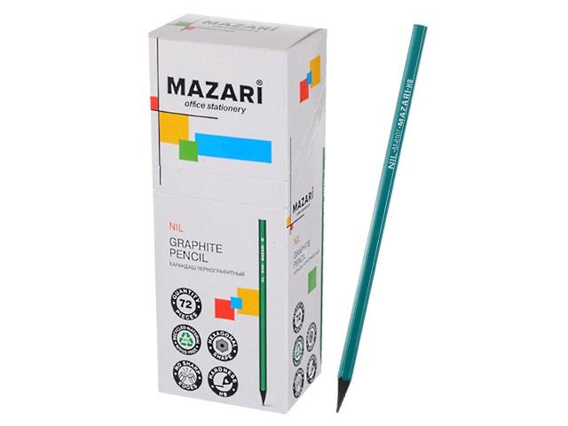 Карандаш HB Mazari Nil пластик шестигранный без ластика M-6107