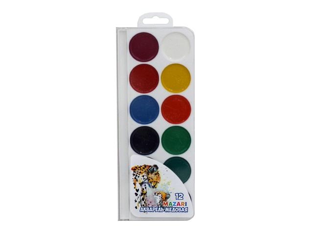 Краски 12 цветов акварель медовая Animals Park М-2051