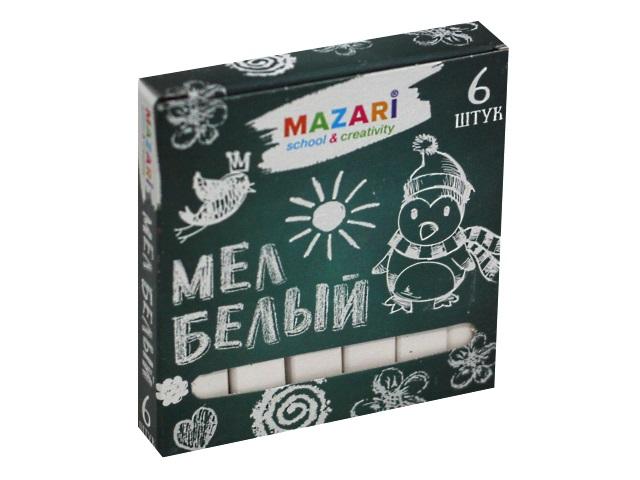 Мел белый Mazari 6 шт. M-9000