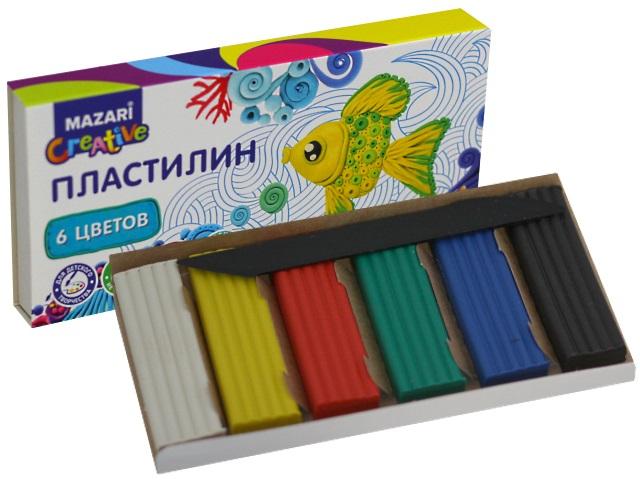 Пластилин  6 цветов Mazari M-2145-06