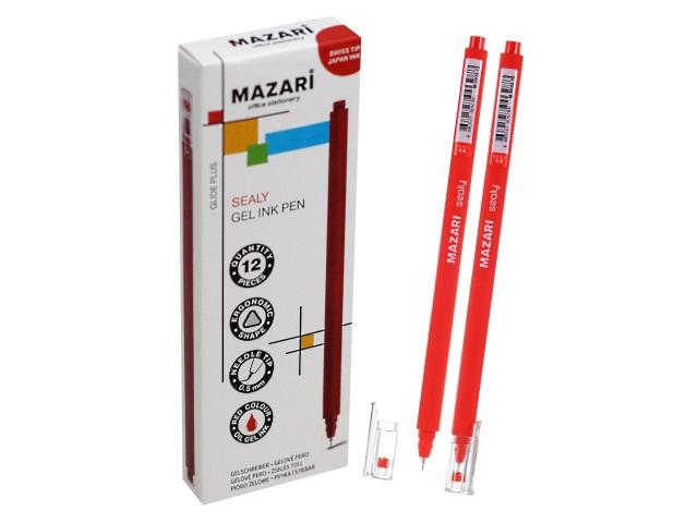Ручка гелевая Mazari Sealy красная 0.5мм M-5502-72