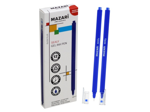 Ручка гелевая Mazari Sealy синяя 0.5мм M-5502-70