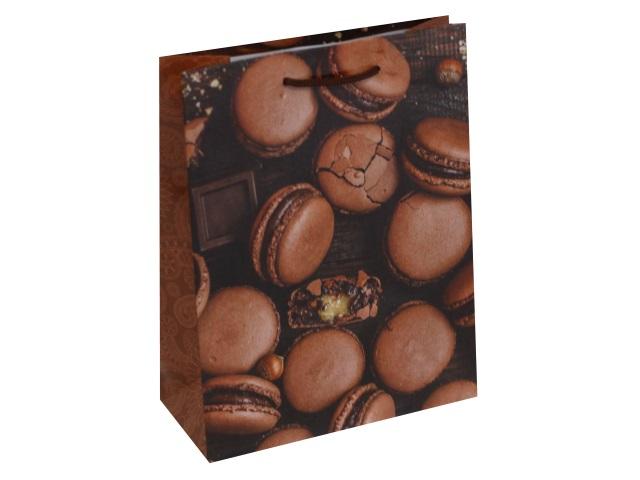 Пакет подарочный бумажный 18*23* 8см Optima Шоколадные макаруны ПКП-6319\12